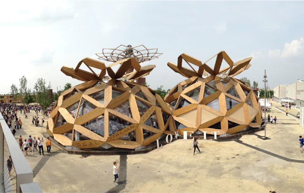 Prefabricated wooden pavillon