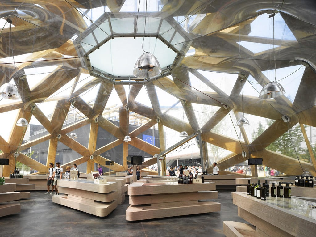 COPAGRI Expo 2015 Prefabricated wooden pavillon interior