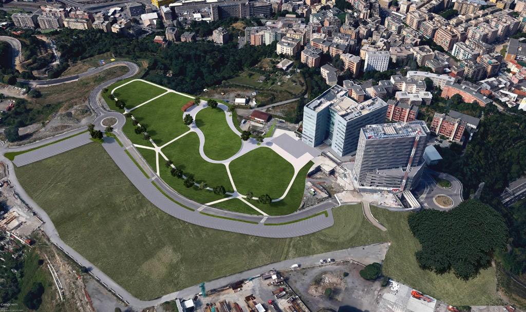 Public park project Erzelli