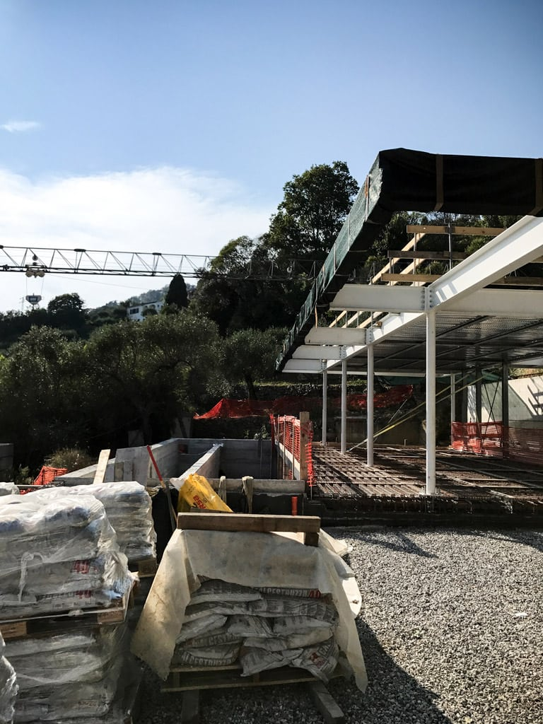 Villa R Santa Margherita Ligure construction site